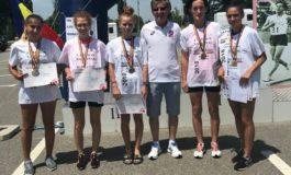 FOTO: Rezultate extraordinare pentru CS Unirea Alba Iulia la Campionatul Național de Marș – 20 de kilometri, de la Pitești: Cinci sportive au devenit campioane naționale
