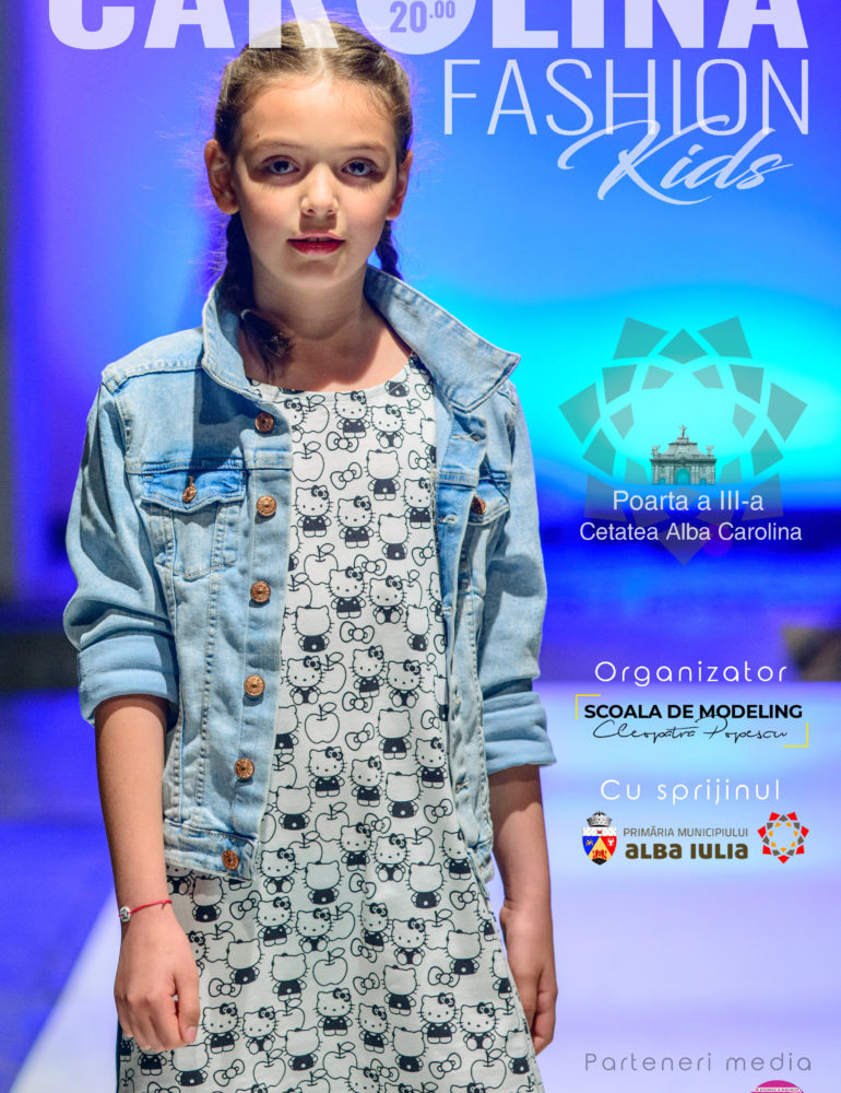 Sâmbătă: Carolina Fashion Kids, la Alba Iulia. Pășește în fascinanta lume a modei alături de elevii Şcolii de Modelling Cleopatra Popescu