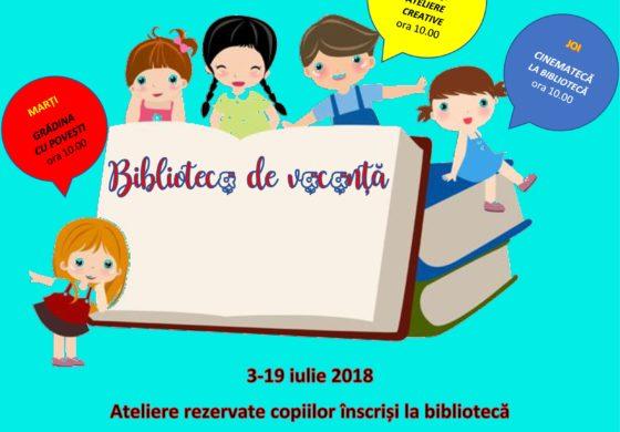 """3-19 iulie: Biblioteca de vacanţă, la Sebeş. Programul activităţilor pentru o vacanţă de """"pici""""!"""
