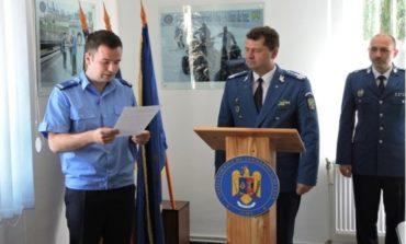 FOTO: Jandarmeria Alba are un nou ofiţer specialist, încadrat din sursă externă