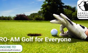 8 IUNIE: Golf pentru toți. Toți pentru golf! Prima ediție a competiției PRO-AM Golf for Everyone, desfășurată la Clubul de Golf Profesor Paul Tomița din Pianu de Jos
