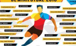 5-8 IULIE: Campionatul Naţional de Minifotbal, la Alba Iulia. Cele mai bune 20 de echipe din țară își vor disputa titlu de Campioana României la Minifotbal