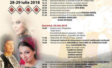 """28-29 IULIE: Festivalul concurs național de folclor ,,Inimi fierbinți în Țara de Piatră"""", la Abrud. PROGRAM"""