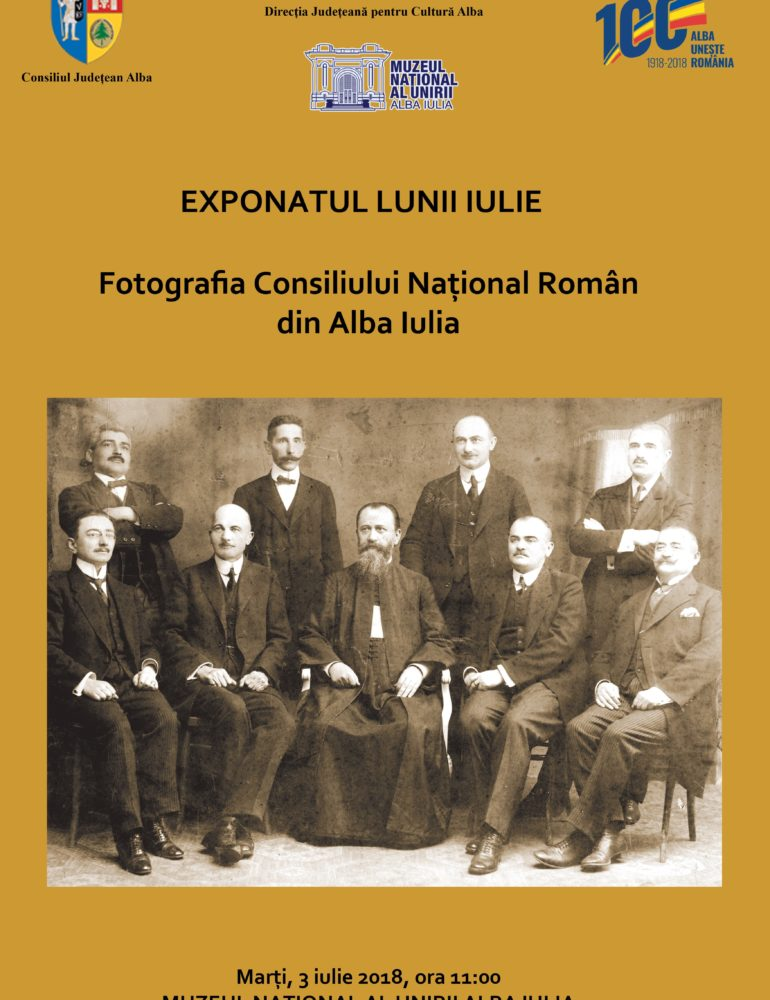 MARȚI: Exponatul lunii iulie, la Muzeul Naţional al Unirii din Alba Iulia