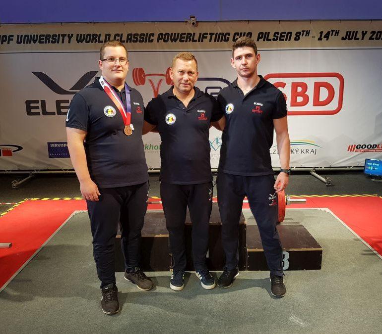 FOTO: Dan Turuș, sportiv legitimat la CS Unirea Alba Iulia, medalie de bronz la Cupa Mondială Universitară de Powerlifting