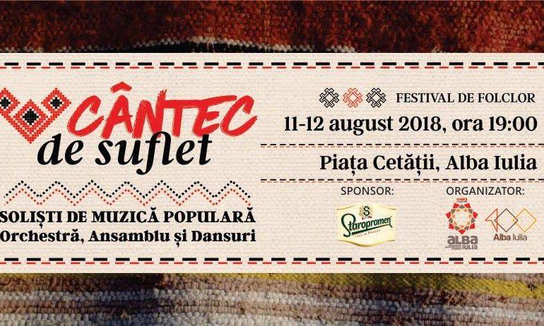 """11-12 august: """"Cântec de suflet"""" 2018. Artiştii care vor urca pe scenă şi vor oferi un adevărat regal folcloric. PROGRAM"""