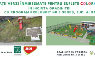 """Primăria Sebeş: Grădiniţa cu program prelungit nr.3 din Sebeş va avea """"Spaţii verzi înmiresmate pentru suflete colorate"""""""