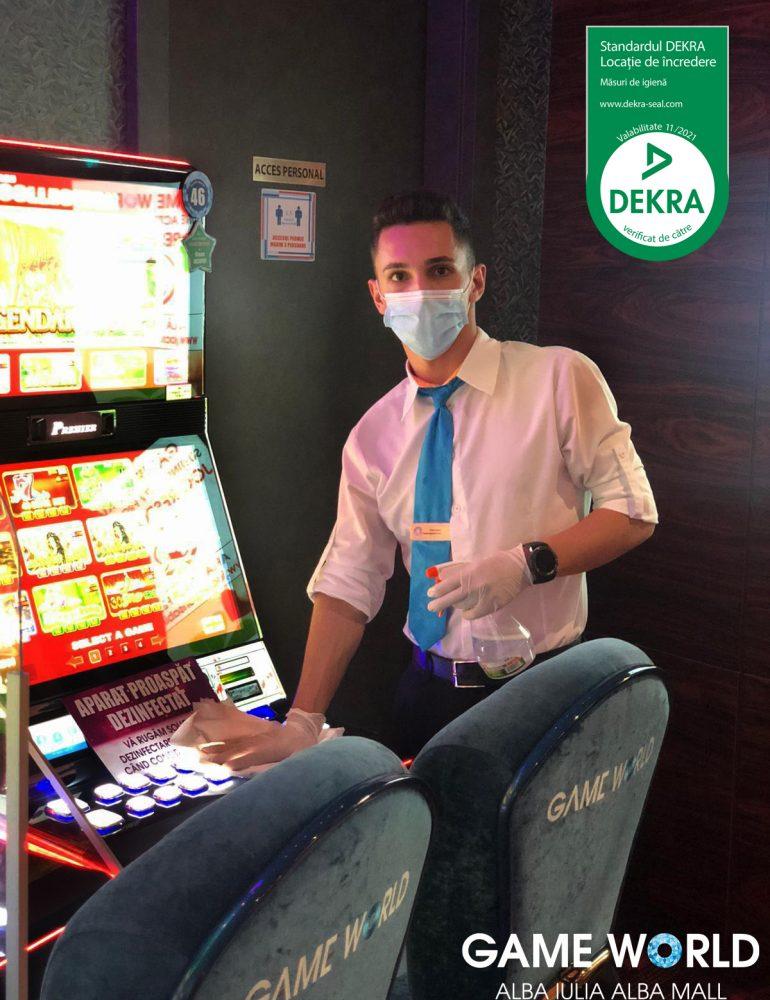 """Game World Alba Mall, din Alba Iulia, a obținut certificarea internațională DEKRA Trusted Facility (""""Locație de Încredere"""") cu privire la siguranța sanitară"""