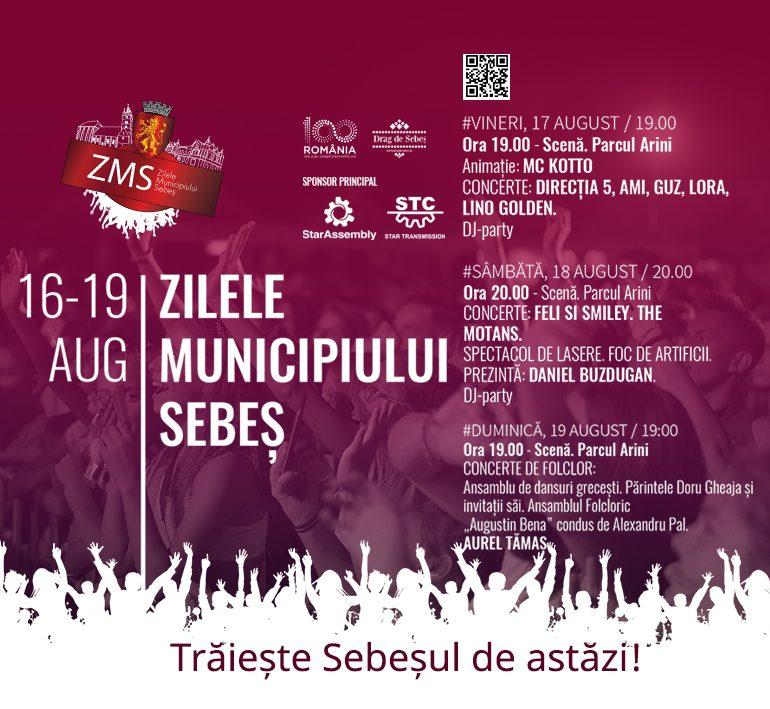 16 – 19 August – Zilele Municipiului Sebeș 2018. Program complet