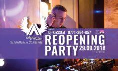 29 septembrie: Reopening PARTY cu Dj KriSStal, în Club Allegria din Alba Iulia