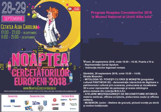 VINERI şi SÂMBĂTĂ: Noaptea Cercetătorilor Europeni, la Alba Iulia. PROGRAM