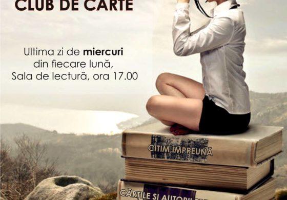 """Miercuri: O nouă întâlnire a Clubului de lectură ,,LecturALBA""""  la Biblioteca Județeană ,,Lucian Blaga"""" Alba"""