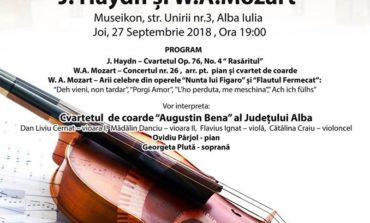 JOI: Concertul Cameral: Maeștrii Clasicismului Vienez: J. Haydn și W.A. Mozart, la Muzeul Museikon