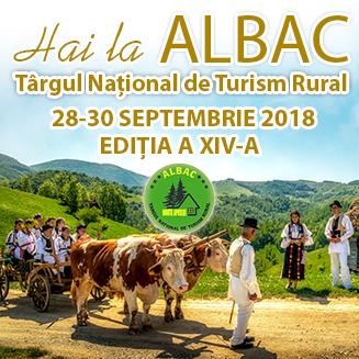 28-30 septembrie: Târgul Naţional de Turism Rural Albac – staţiunea Albac devine capitala turismului rural românesc. PROGRAM