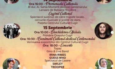 """14-16 septembrie: """"Toamna Cugireană"""" 2018. Spectacole de muzică populară, concerte, parada portului popular, focuri de artificii, spectacol de lasere şi competiţii sportive"""