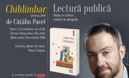 """12 octombrie: Lansarea cărţii """"Chihlimbar"""" semnată de Cătălin Pavel, la Alba Iulia"""