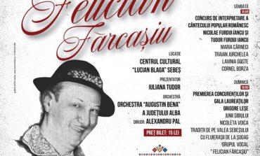 """9-11 NOIEMBRIE: A XVI-a ediţie a Festivalului Naţional de Folclor """"Felician Fărcaşiu"""" – Concurs de interpretare a cântecului popular românesc, la Sebeș"""