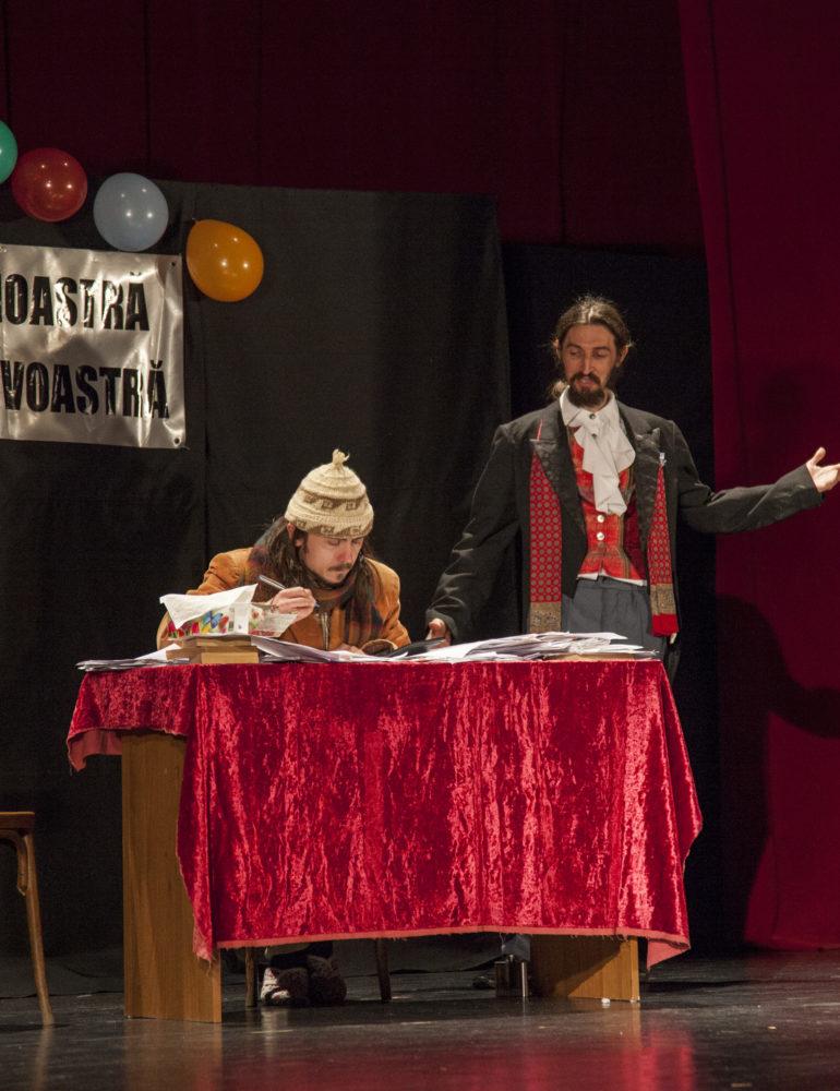 Marţi: Spectacolul Jubileul –  după A.P.Cehov pus în scenă de Grupul Skepsis, la Casa de Cultură a Studenţilor din Alba Iulia