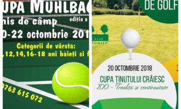 Două competiții sportive organizate de Municipiul Sebeș în acest final de săptămână: Cupa Muhlbach, la tenis de câmp şi Cupa Ținutului Crăiesc, la golf