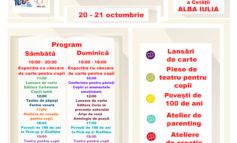 20-21 octombrie: Târgul de povești pentru copii, la Alba Iulia. Târg de carte dedicat exclusiv celor mici