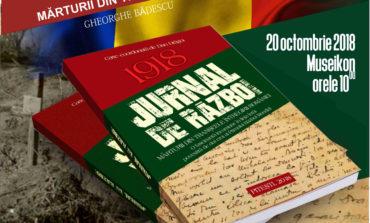 """Sâmbătă: lansarea volumului """"Jurnal de război"""", un volum coordonat de scriitorul argeșean Dan Drăgoi, la Museikon"""