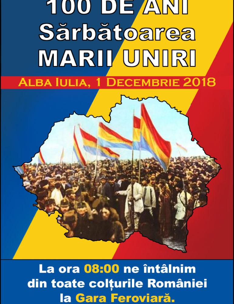 """Vineri: Lansarea campaniei de semnături """"Un milion pentru Unire"""", în județul Alba"""