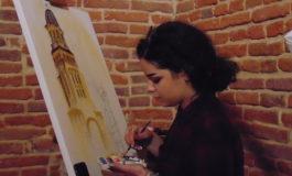 FOTO-VIDEO: ArtFEST 100 la Alba Iulia. Muncă și distracție la Galeriile de Artă de la Poarta a III-a, unde se realizează picturi tematice în contextul sărbătoririi Centenarului Marii Unirii