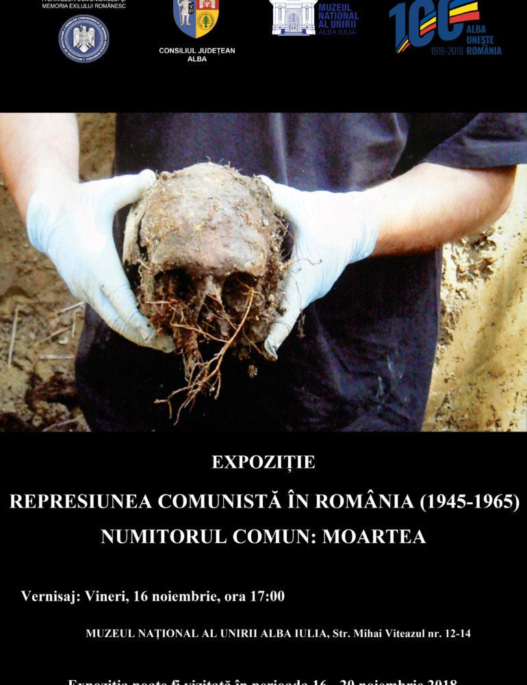 """Vineri: Expoziția """"Represiunea comunistă în România (1945-1965) – Numitorul comun: Moartea"""", la Muzeul Național al Unirii din Alba Iulia"""