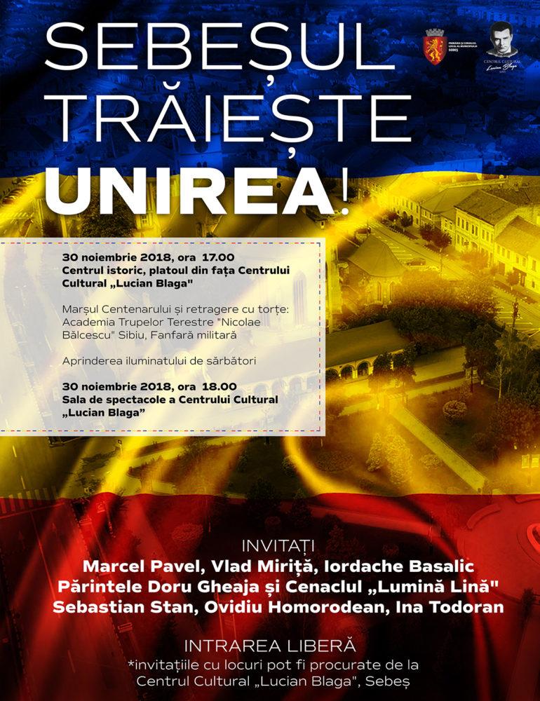 Municipiul Sebeș – Programul evenimentelor prilejuite de Ziua Națională a României