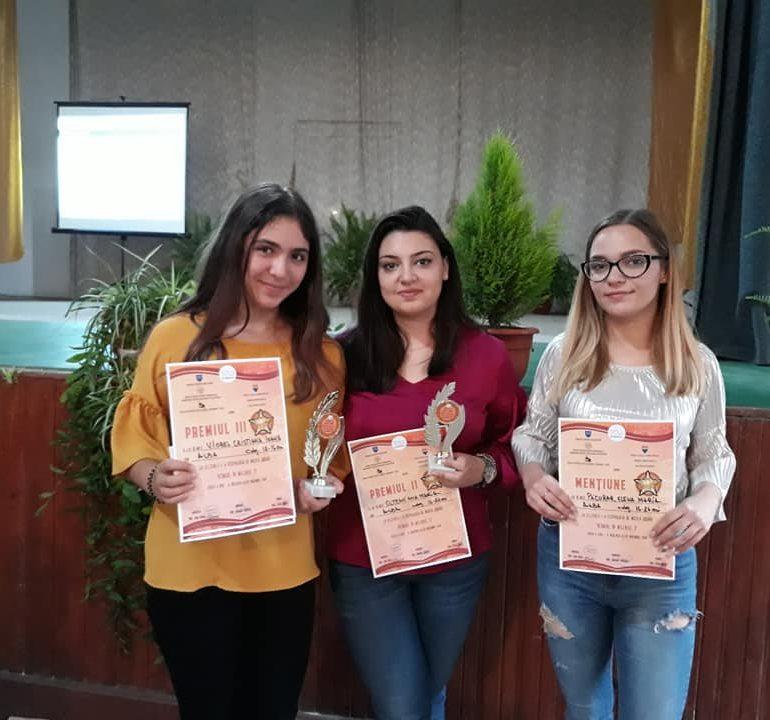 """FOTO: Noi premii pentru tinerii cursanţi ai Şcolii de Arte din cadrul Centrului de Cultură """"Augustin Bena"""" Alba"""