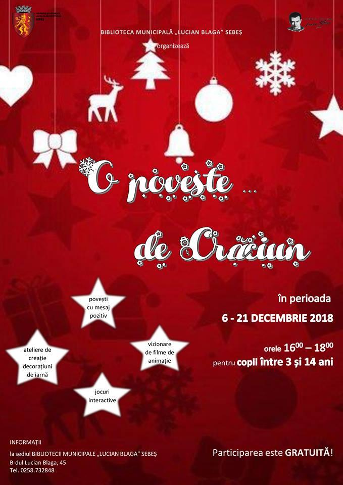 """6 – 21 decembrie: """"O POVESTE… DE CRĂCIUN"""" la Sebeș"""