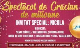 """22 decembrie: """"Spectacol de Crăciun de milioane!"""", la Casa de Cultură a Studenților din Alba Iulia"""