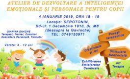 VINERI 4 ianuarie- Atelier de dezvoltare a inteligenței emoționale pentru copii
