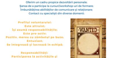 Asociaţia SM SPEROMAX ALBA este în căutare de voluntari implicaţi şi motivaţi