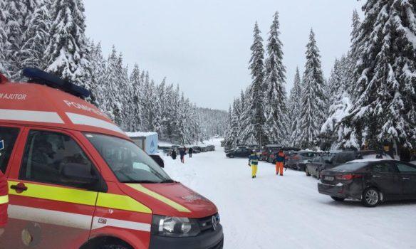 FOTO: Punct de lucru temporar cu ambulanță de prim ajutor SMURD, deschis de ISU Alba la Domeniul Schiabil Șureanu