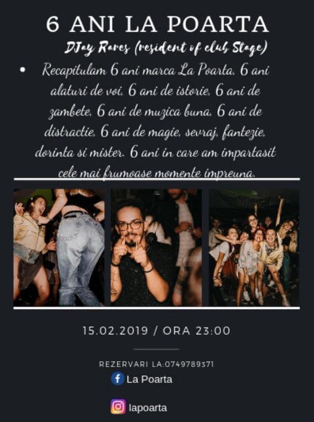 """15 februarie: Localul """"La Poartă"""" aniversează 6 ani. Recapitulare a celor mai frumoase momente"""