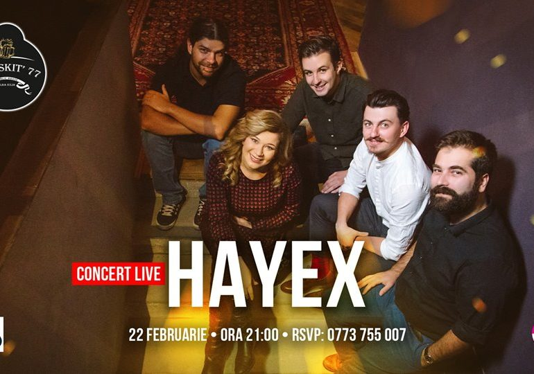 Vineri: Concert de Dragobete susținut de Hayex în Pub Skit`77