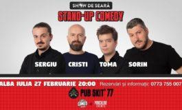 Miercuri: Stand-up comedy cu Sorin, Toma, Sergiu și Cristi Popesco la Pub Skit`77