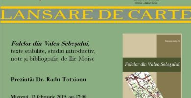 Miercuri: Etnologul Ilie Moise, sărbătorit la 71 de zi printr-o lansare de carte la Sebeș