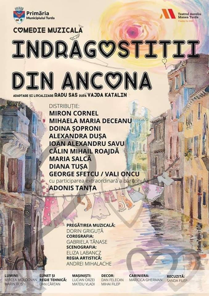"""20 februarie: """"Îndrăgostiții din Ancona"""", pe scena Casei de Cultură """"Ion Sângereanu"""" Ocna Mureș"""