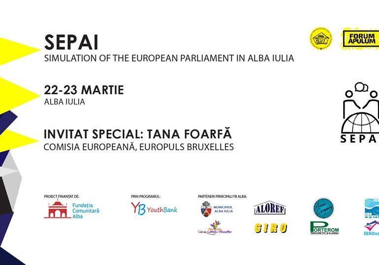 Vineri: Lansarea proiectului SEPAI – Simulation of the European Parlament în Alba Iulia