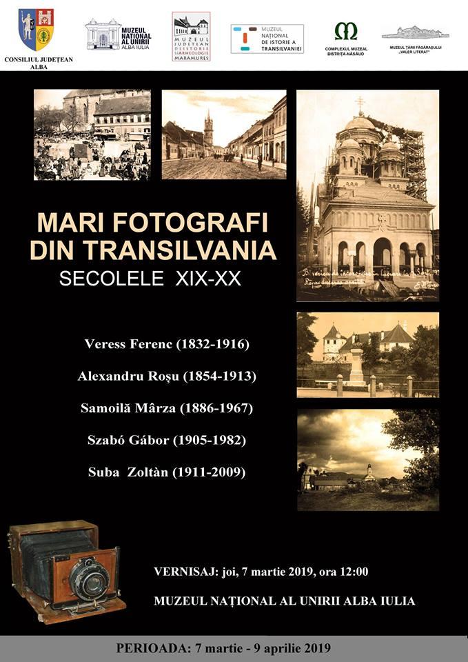 "Joi: Expoziția ""Mari fotografi din Transilvania. Secolele XIX-XX"", la Muzeul Unirii din Alba Iulia"
