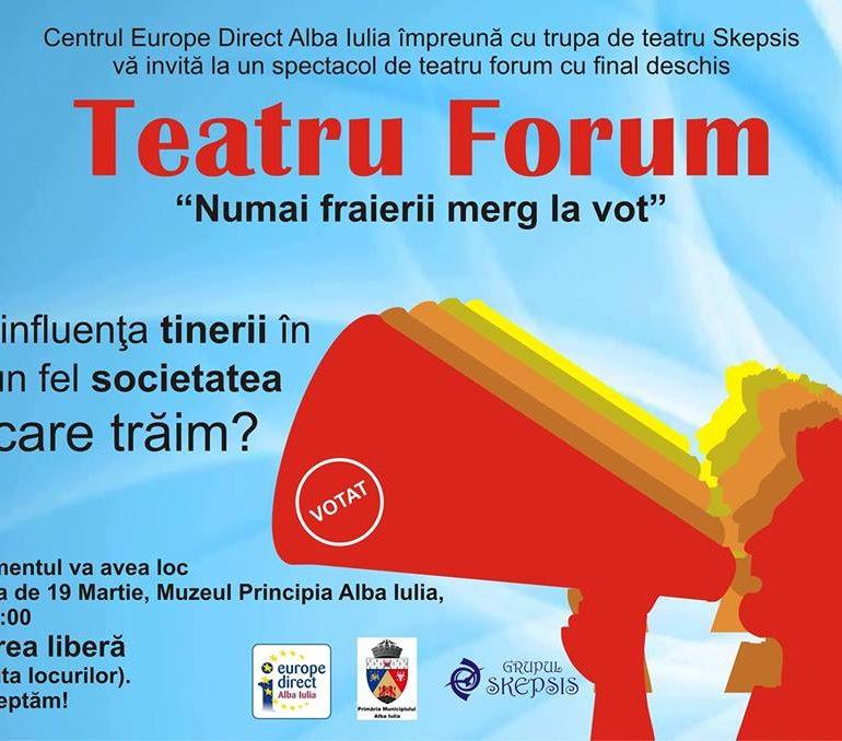 Marți: Teatru Forum cu Skepsis, la Muzeul Principia din Alba Iulia