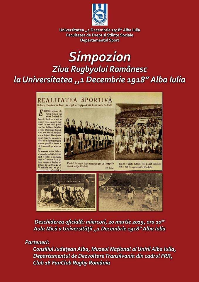 """Miercuri: Simpozion """"Ziua Rugbyului Românesc"""", la UAB"""