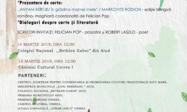 """Caravana literară """"Scriitori în școală"""" a Bibliotecii Județene ,,Lucian Blaga"""" Alba  în dialog cu elevii din Aiud și Unirea"""