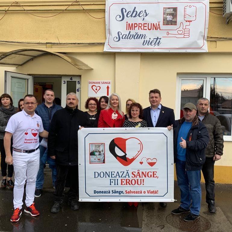 FOTO: Acțiunea de donare de sânge din 6 martie de la Spitalul Municipal Sebeș, a fost o reușită