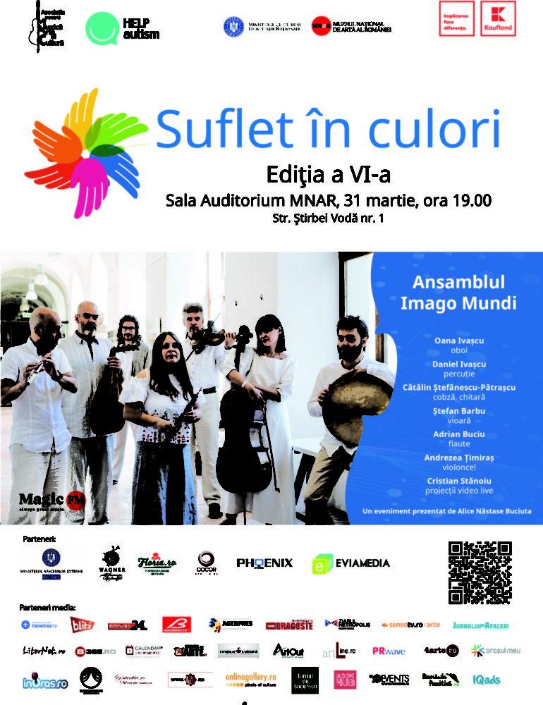 """31 martie: Concertul caritabil """"Suflet în culori"""", la Muzeul Național de Artă al României"""