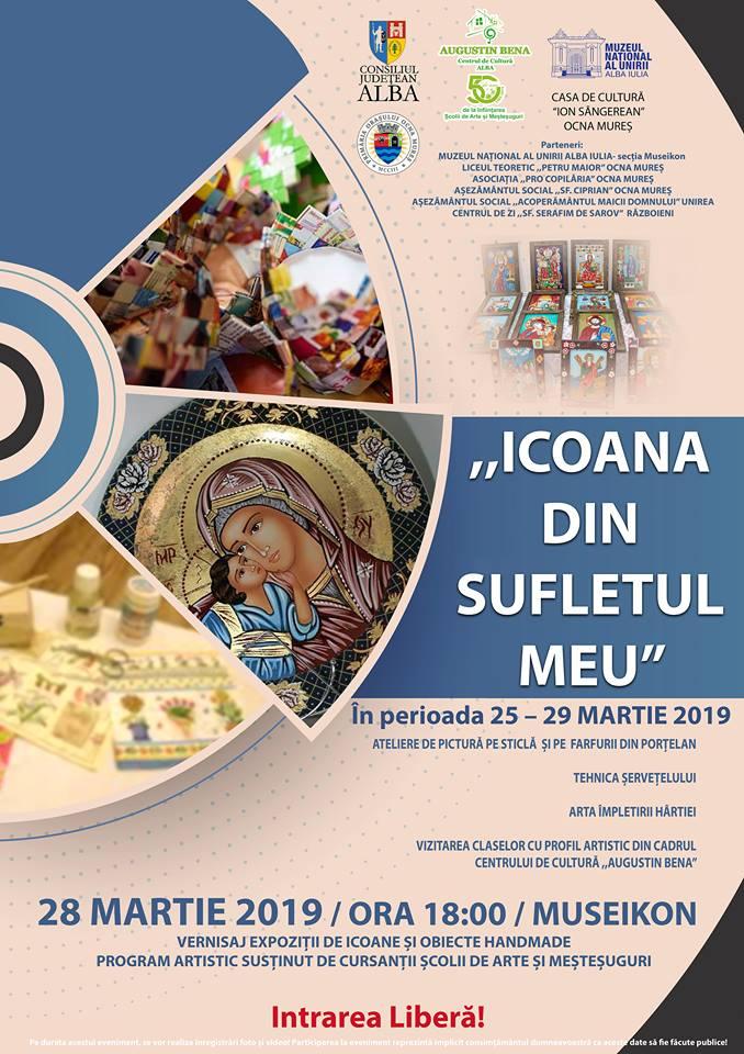 """26-29 martie: """"Icoana din sufletul meu"""" – ateliere de pictură, expoziție și momente artistice la Alba Iulia"""