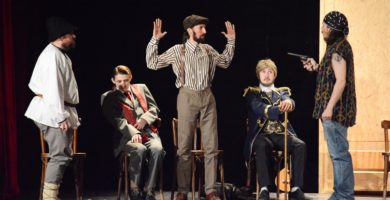 Joi și Vineri: Grupul Skepsis celebrează Ziua Mondială a Teatrului cu două spectacole deosebite la Casa de Cultură a Studenţilor Alba Iulia