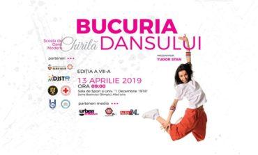 """Sâmbătă: A VIII-a ediţie a Concursului Național de Dans Modern """"Bucuria Dansului"""", la Alba Iulia"""
